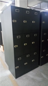 18 Doors Locker with 3 Bays 6 Tiers pictures & photos