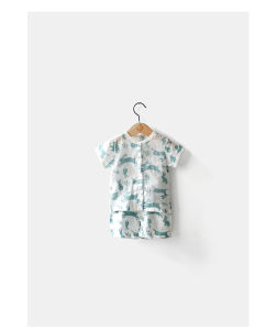 Rabbit Printing Organic Cotton Baby T-Shirt with Nature Color pictures & photos