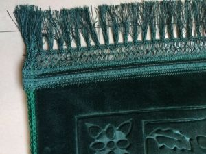 Raschel Thickness Emboss Shinny Fringe Prayer Mat pictures & photos