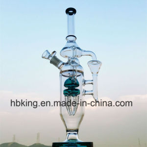 "15"" Hbking Thick Glass Water Pipe Borosilicate Glass Water Pipe Inliner Rocket Perc Smoking Pipe Microscope Fashion Design Top Selling Waterpipes pictures & photos"