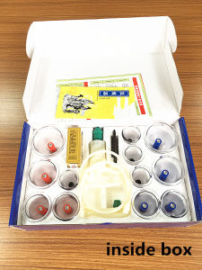 China Cheap Vacuum Plastic Hijama Cupping Set pictures & photos