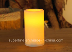 Plastic Flameless Battery Operated Safe Use Pillar LED Candles for Decoration pictures & photos