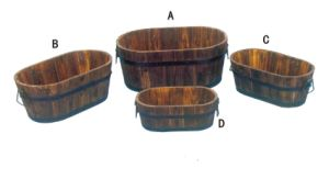 Best Quality Octagon Wooden Flower Pot Wooden Whiskey Barrel pictures & photos