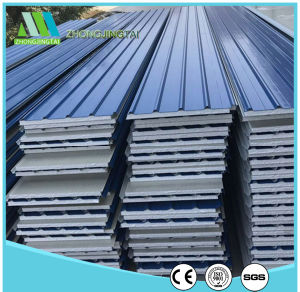 Light Steel Color Corrugated EPS Sandwich Panels pictures & photos