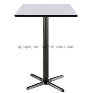 Modern Square Melamine Desktop Bar Table with Cast Iron Leg (SP-BT604) pictures & photos