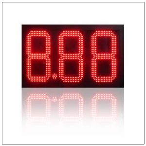 24 Inches Red Color Diesel/Regular/Cash/Credit/Unleaed Outdoor Wateproof IP65 RF Wireless LED Gas Price Sign pictures & photos