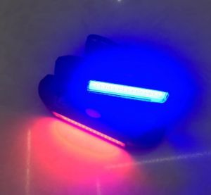 Waterproof Bicycle Tail LED Light Red White Blue COB Warning Safety Lamp pictures & photos