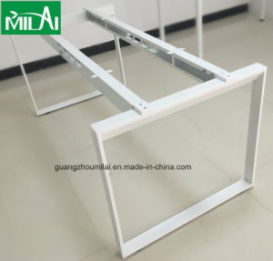Small Simple Design Office Negotiation Table with Metal Leg pictures & photos