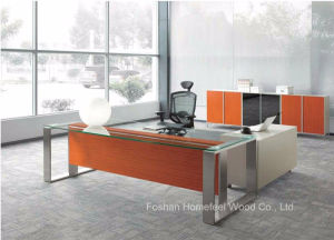 Hot Sell Modern Office Furniture Executive Glass Desk (HF-SIA002) pictures & photos