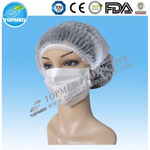 Non-Woven/SMS/Surgical/PP/Mop/Crimped/Pleated/Strip/Medical Disposable Clip Mob Cap pictures & photos
