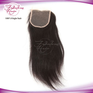 Knots Bleached Unprocessed Russian Silky Straight Lace Closure pictures & photos