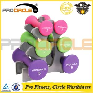 Vinyl Dipping Dumbbell Rack Set with Stand and Dumbbell pictures & photos