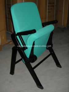 Folding Movable Portable Auditorium Lecture Meeting Conference Hall Church Chair (1114) pictures & photos