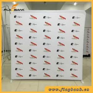 8FT Straight Waveline Tension Fabric Pop up Stand Display pictures & photos