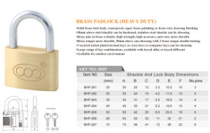 Waterproof High Quality Factory Offer Brass Padlock Accept Customize pictures & photos