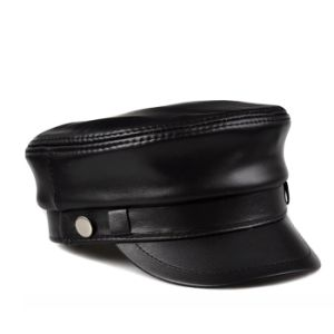 Black Leather Captain Hat pictures & photos