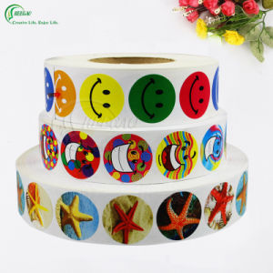 Custom Roll Printed Self Adhesive Sticker Label (KG-PL005) pictures & photos