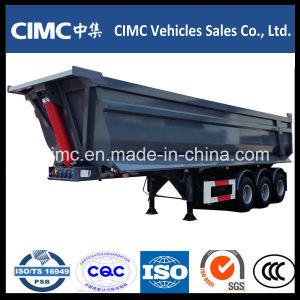 Cimc 3 Axle Tipper Dump Semi Trailer 30 Cubic with U Shape pictures & photos