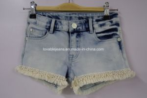 Light Blue Stylish Denim Shorts for Girls (PPS-420160714004) pictures & photos