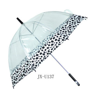 PVC manual open Straight Umbrella