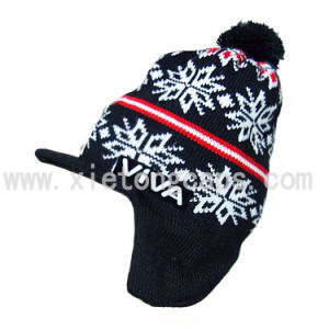 Knitted Hat with Ear Flap, Winter Warm Hat (JRK086) pictures & photos