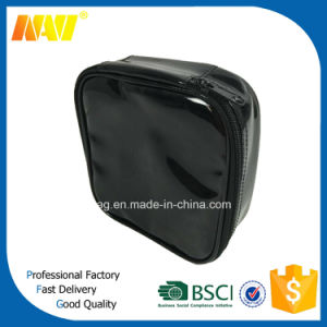 Shiny PVC Leather Toiletry Bag with Gold Silksreen Printing pictures & photos