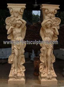 Porch Column with Stone Marble Granite Sandstone (QCM140) pictures & photos