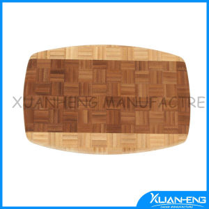 Three Size Bamboo Cutting Board with Silicon Handle pictures & photos