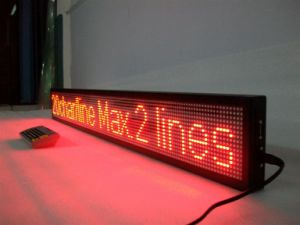 P7.62 Red Color Indoor Scrolling LED Message Sign pictures & photos