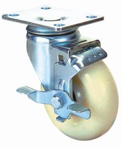 Swivel Nylon Caster with Side Brake (White) pictures & photos