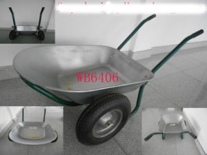 2 Wheels, Steel Frame Wheel Barrow & Handcart Wb6406
