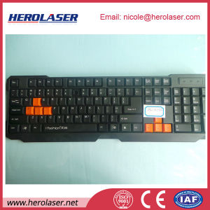 High Efficiency Long Focus 30W Plastic Keyboard Marking Fiber Laser Marker pictures & photos