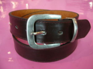 Leather Pin Buckle Men′s Belts (P1100816)