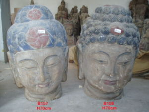 Wood Buddha Head Carving (B157, B158) pictures & photos