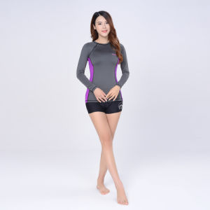 Woman′s Long Sleeve T-Shirt Slimming Gym Yoga Clothes pictures & photos
