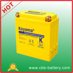 American Standard Yellow Casing Power Sport Motorcycle Battery 12V 11ah pictures & photos