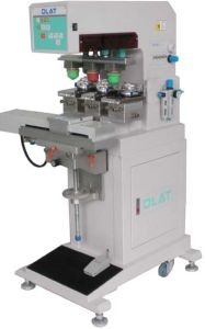 Three Colours Pneumatic Pad Printing Machine With Sealed Ink-Cup and Shuttle (OP-223SE)