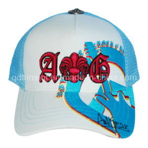 Fashion Constructed Embroidery Leisure Snapback Mesh Trucker Hat (TRT026) pictures & photos