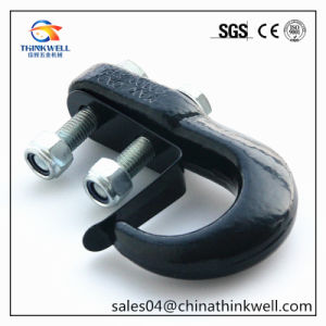 Forged Carbon Steel Black Coated Tow Hook with Latch pictures & photos