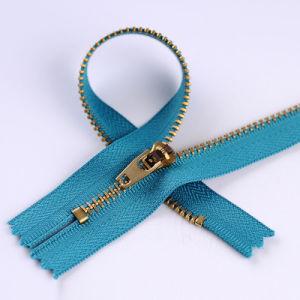 3# Antique Brass Zipper Close End Metal Zipper for Jeans pictures & photos