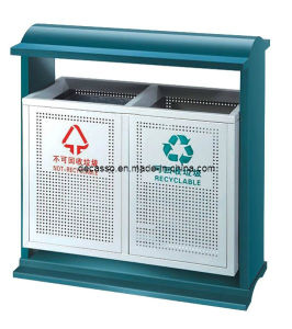 Outdoor Sortable Metal Dustbin (DL101) pictures & photos