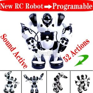 Roboacotr 2 Version Remote Control RC Robot Toy, Humanoid Infra Red Control Programmable Robot+Sound Active+52 Actions (RY-420)
