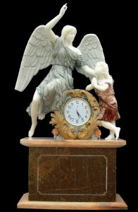 Stone Sculpture Carving Clock (STT381) pictures & photos