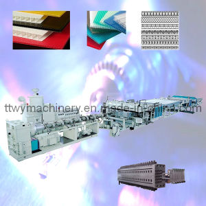 PP/PC Plastic Hollow Grid Sheet/Board Extruder pictures & photos