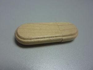 Promotion Rectangle Wooden USB Flash Drive (OM-W027) pictures & photos