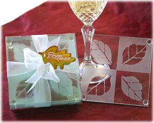 Maple Leaf Glass Wedding Coaster