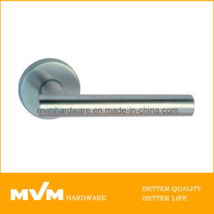 High Quality Stainless Steel Door Handle on Rose (S1140) pictures & photos