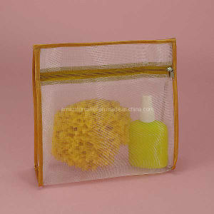 High Quality Sheer Mesh Zipper Cosmetic Bag