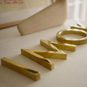 Backlit Brass Letter with Varnish Covering pictures & photos