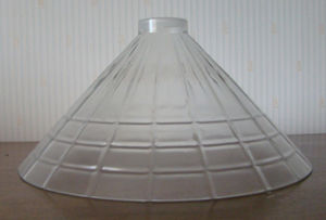 Mouth Blown Glass/Clear and Clear Bubble Glass Lamp Shade BH3400